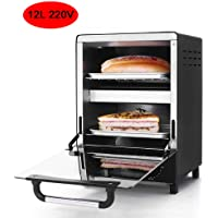 Mini Electric Convection Oven Vertical Bakery Toaster Timer 12L 220V Biscuits Cookie Cake Pizza Bread Breakfast Baking…