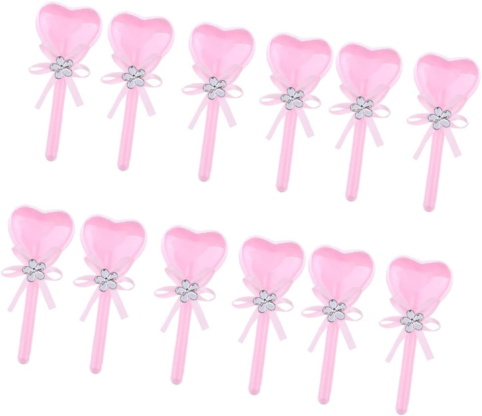Rose MagiDeal 12pcs Bo/îte Surprise /à Bonbon Drag/ées Forme Coeur Lollipop en PVC avec Ruban pour Mariage Anniversaire