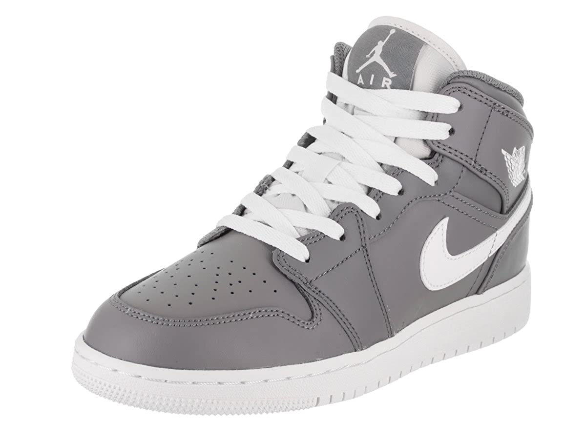 7c63da2d98e Amazon.com | Jordan Air 1 Mid BG Big Kids Shoes Cool Grey/White/White  554725-036 | Basketball