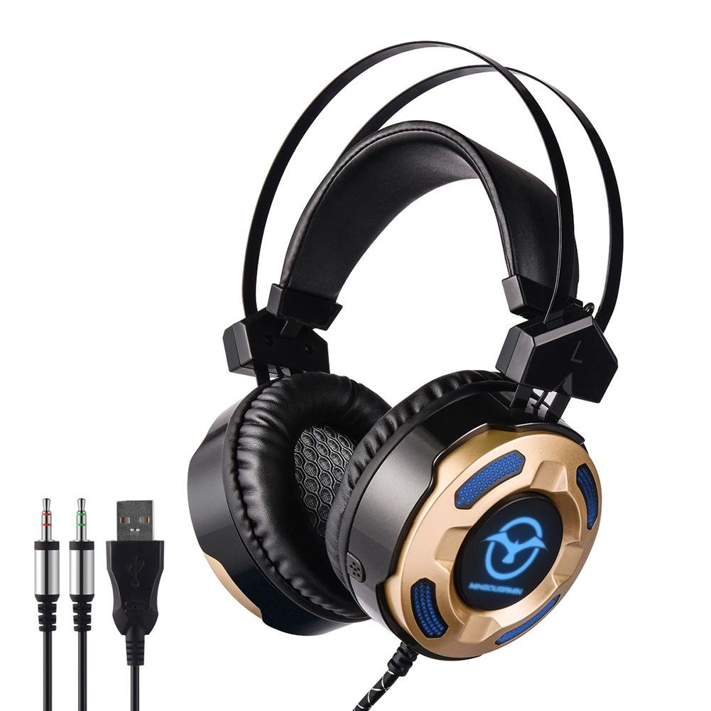 Somedays Headphones Wired Computer Gaming Headset Double Moving Rings M2 Noise Cancelling Headphone