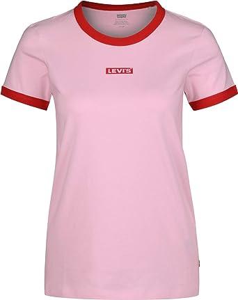 Camiseta Levis Ringer Rosa Mujer XS Rosa: Amazon.es: Ropa y accesorios
