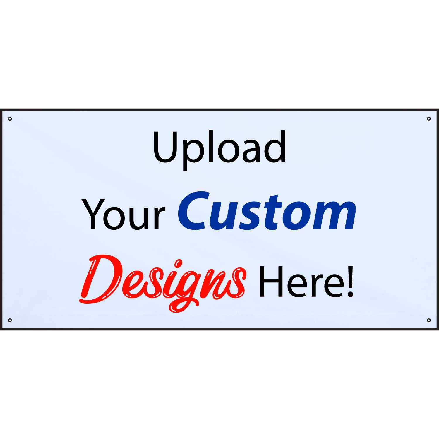 HALF PRICE BANNERS | Customize Now with Online Designer-Indoor/Outdoor Vinyl Banner 2X4 Foot-White|with Ball Bungees & Zip Ties|Easy Hang-Made in USA by HALF PRICE BANNERS
