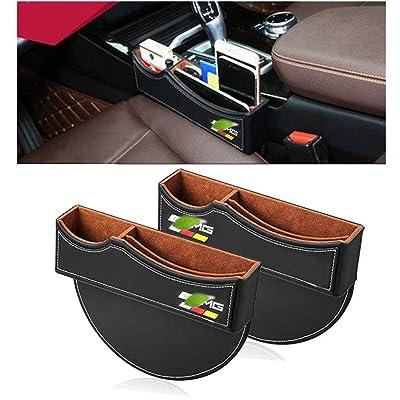Car Seat Gap Filler Premium PU Full Leather Seat Console Organizer, Car Seat Storage Box for Mercedes Benz AMG (2 Pack): Home Improvement