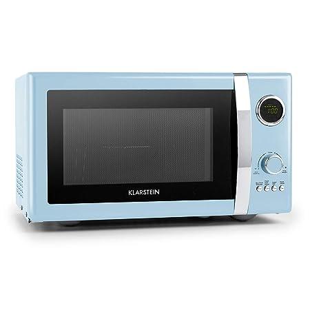 Klarstein Fine Dinesty Microondas Grill Retro - Carcasa metálica , 23 L , 800 W de potencia de microondas , 1000 W de potencia del grill , Programable ...