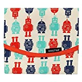 """Keep Leaf FW-6019 Robot Reusable Food Wrap, Reusable Bags, Baby Products, 14"""", Natural, Red, Green, Blue"""