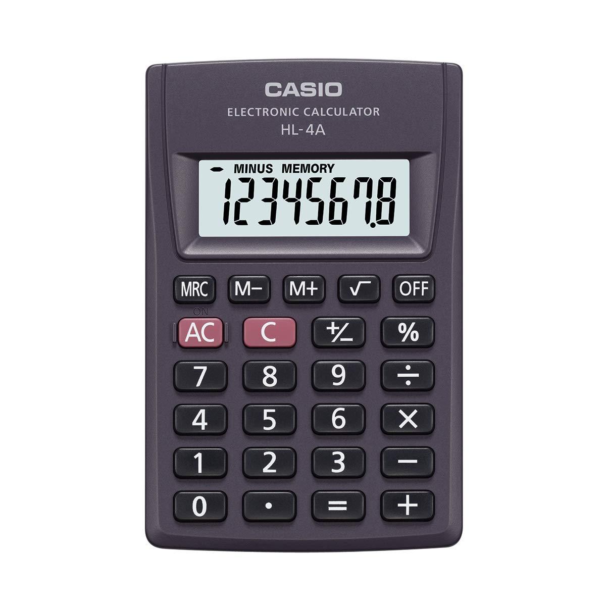 Casio HL-4A - Calculadora (Bolsillo, Calculadora básica, 8 dígitos ...