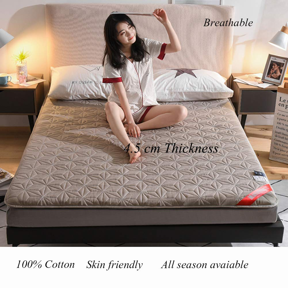 A 120x200cm(47x79inch) Cotton Floor Futon Mattress Mat, Foldable Japanese Matt Mat Breathable Sleeping Pad Quilted Mattress Topper for Student Dorm Bed-a 120x200cm(47x79inch)