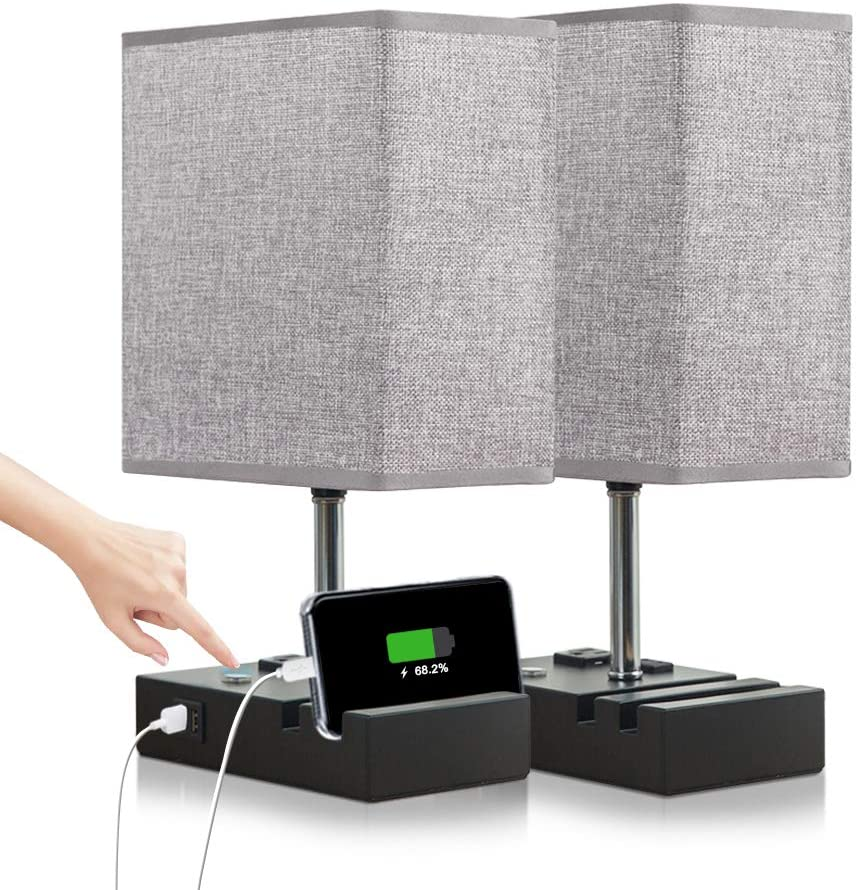 Large discharge sale Lifeholder Touch Lamp with Product 2 Phone Stands USB Dimmable Incl