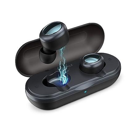 iWALK Auriculares Bluetooth Deportivos Verdaderos TWS Mini Auriculares Inalámbricos Estéreo HiFi con Caja de Carga para