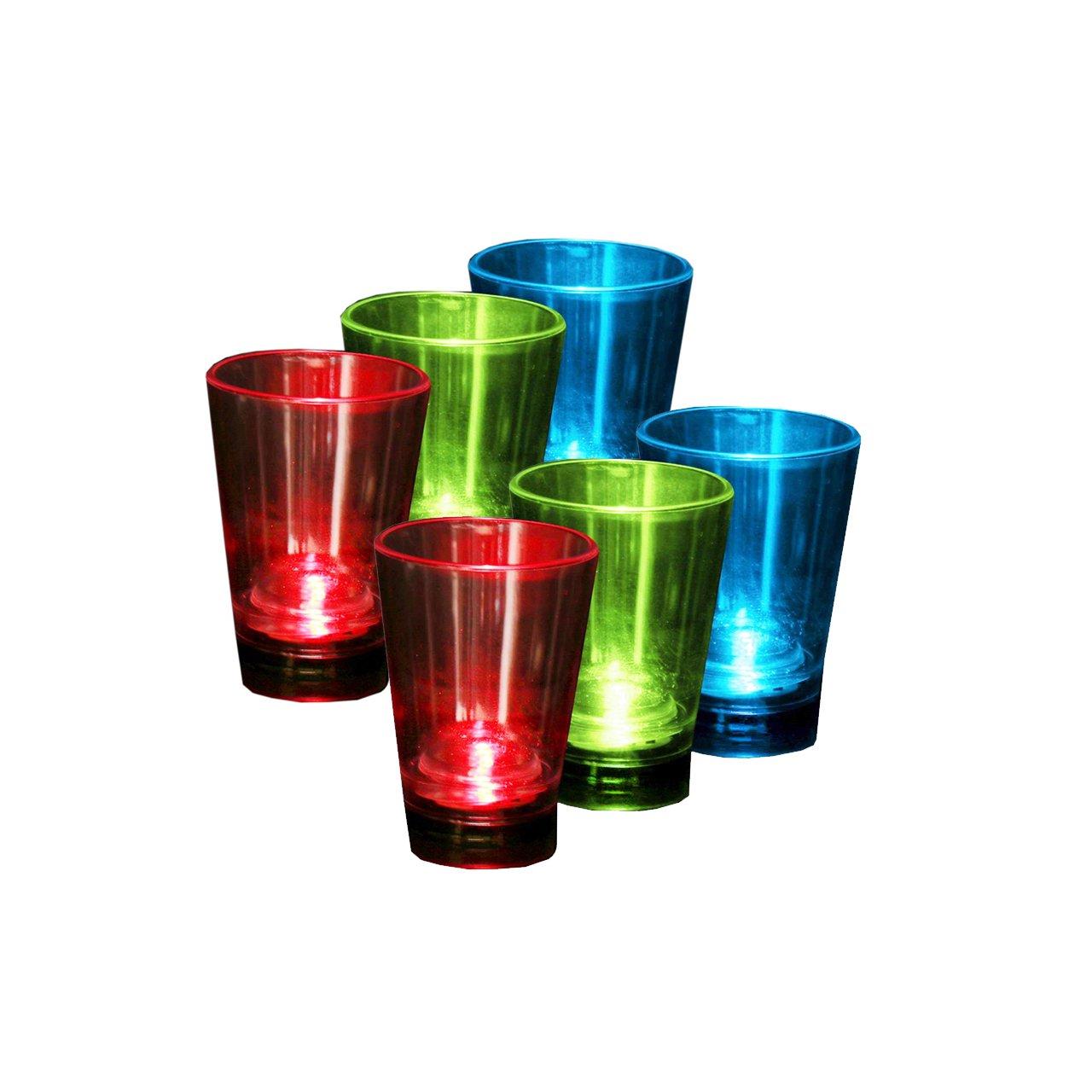 Confezione da IoIo LED 92/bicchierini da liquore in vetro 60/ML in tre diversi colori