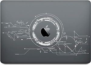 DowBier MacBook Decal Vinyl PVC Transparent Skin Sticker Cover Anti-Scratch Skin (13 Inch Retina A1425/A1502, Pattern D)