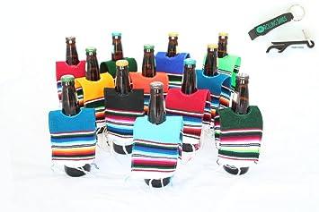 Mexican Cerveza Botella sarape Poncho 12 unidades y botella abridor: Amazon.es: Hogar