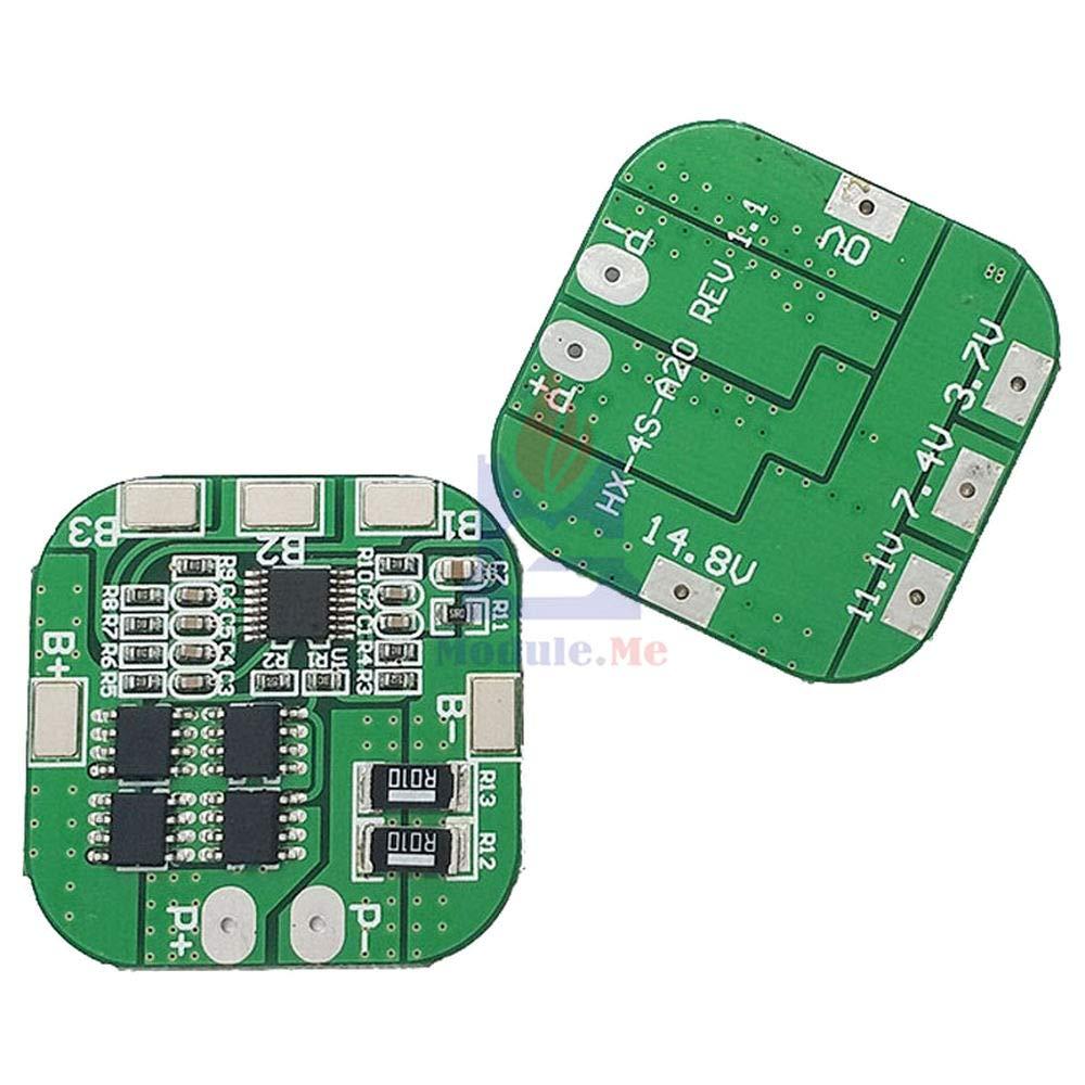 4S 20A 14.8V 16.8V Li-ion Lithium 18650 Battery BMS PCM Protection PCB Board