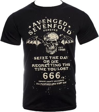 Avenged Sevenfold Seize The Day Rock Metal Oficial Camiseta para Hombre