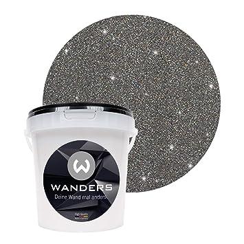 Wanders24 Glimmer Optik 1 Liter Silber Schwarz Glitzer