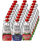 Once Upon a Farm Organic Kids | Dairy Free Super Smoothie Pouch | Cold Pressed | Refrigerated | For Kids | Variety Pack of 24