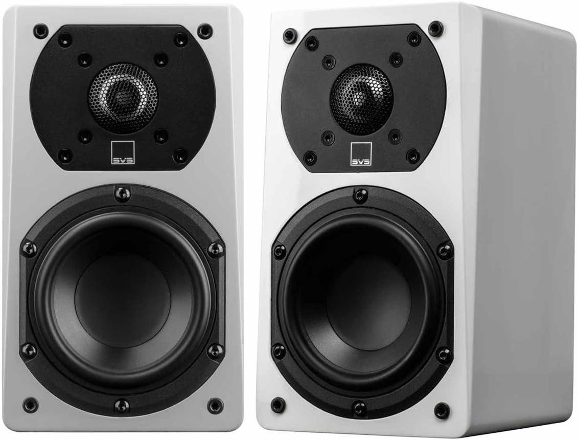 SVS Prime Satellite Speakers – Pair Piano Gloss White