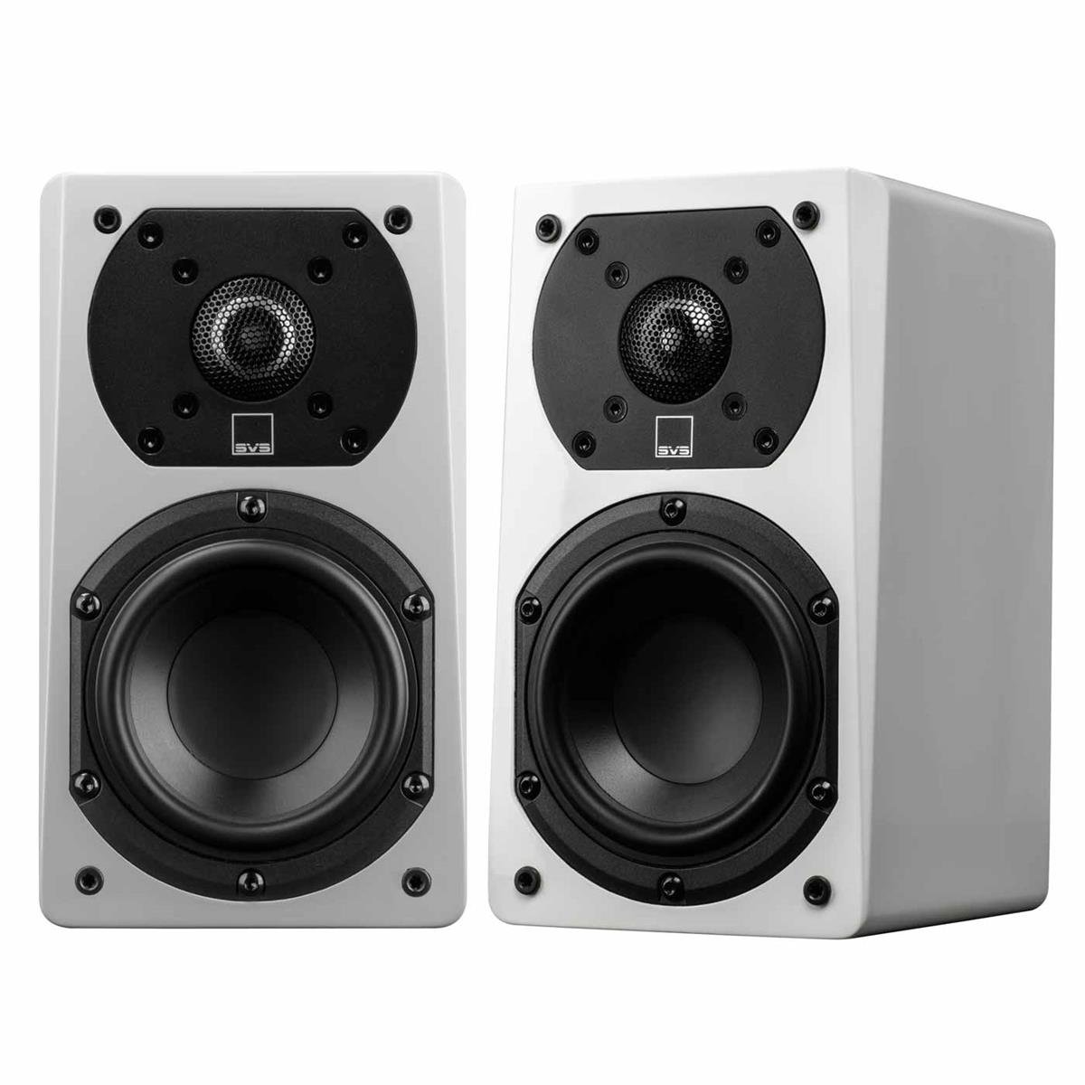 SVS Prime Satellite Speakers - Pair (Piano Gloss White) by SVS