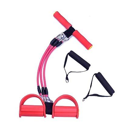 Pedal de pie Cuerda de tracción elástica Banda de Resistencia de Pedal de Fitness Banda de Pedal de Pedal multifunción Entrenador de piernas para ...