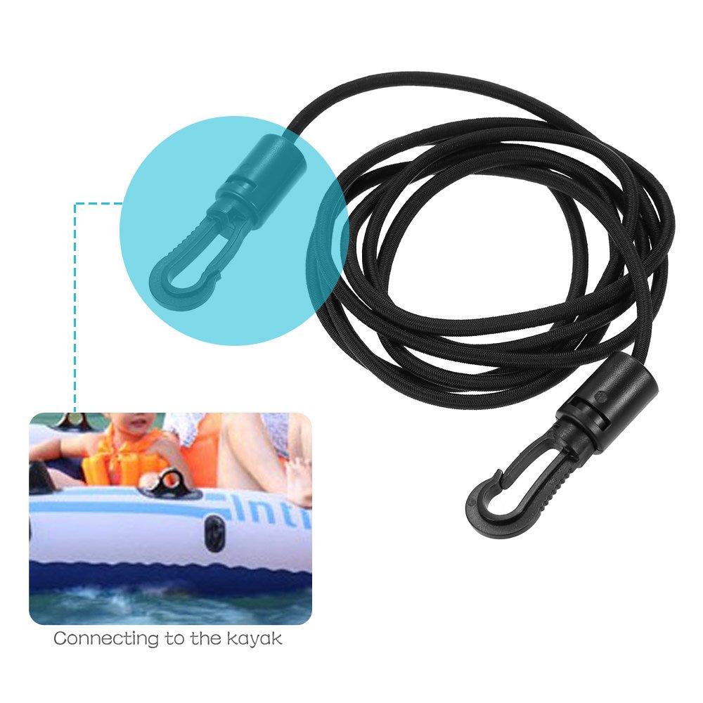 Lixada 1.5m Cuerda El/ástica Bungee con Ganchos de Cuerda de Choque para Kayak Barco Canoa