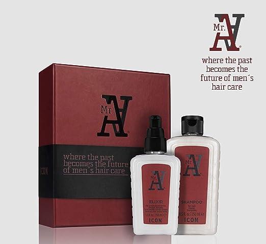 ICON PACK DUO MR.A ANTICAIDA (Champu 250ml + Elixir 150ml): Amazon.es: Salud y cuidado personal