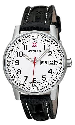 Wenger  Commando  Ivory Dial Day Date Watch  Amazon.co.uk  Watches 2e4ecc71871