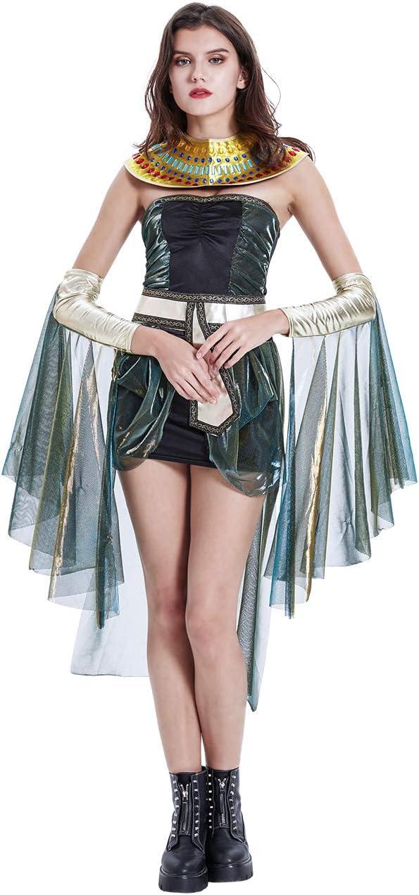 THEE Disfraz de Cleopatra Vestido de Reina Egipcia para Halloween