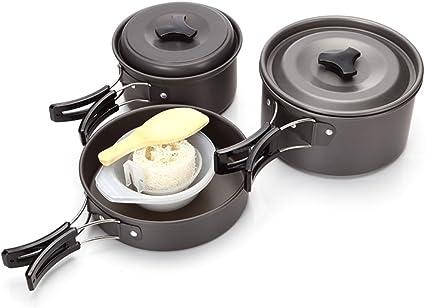 11 Pieces Kit De Cuisine De Camping En Aluminium Champ Vaisselle