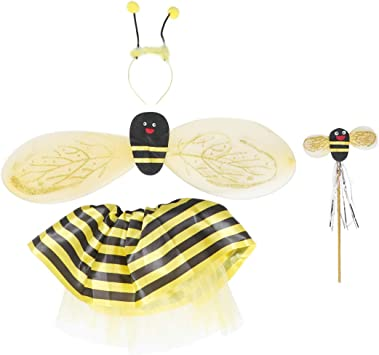 Toyvian 4 Piezas Disfraz de Abeja niña con alas Varita mágica ...