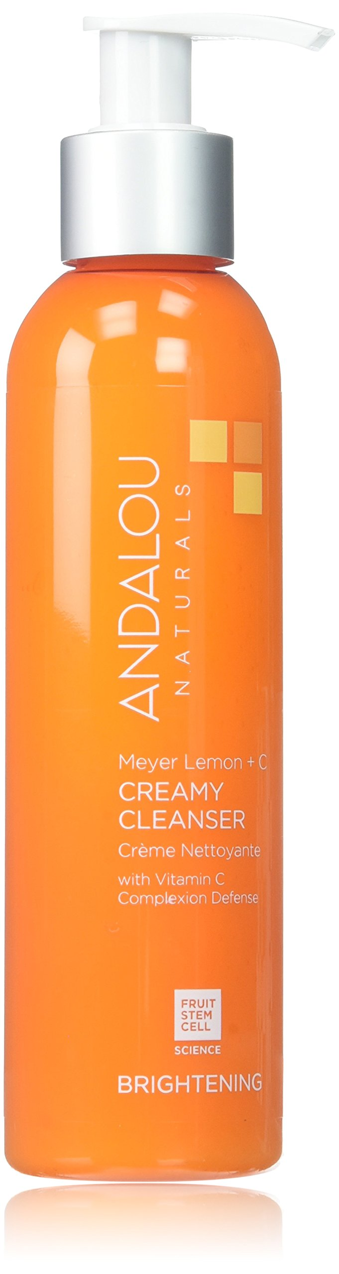 Andalou Naturals Meyer Creamy Lemon Cleanser, 6 oz, Helps Clean, Purify, Brighten & Even Skin Tone, With Vitamin C