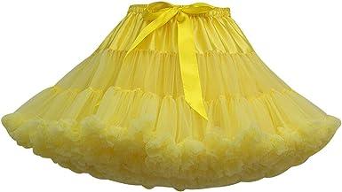 Falda Tutu Mujer Faldas de Tul Cortas Falda Tul Volantes Disfraz ...