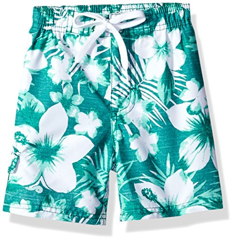 Kanu Surf Toddler Boys' Line Up Quick Dry Beach Swim Trunk, Dominica Green, 4T