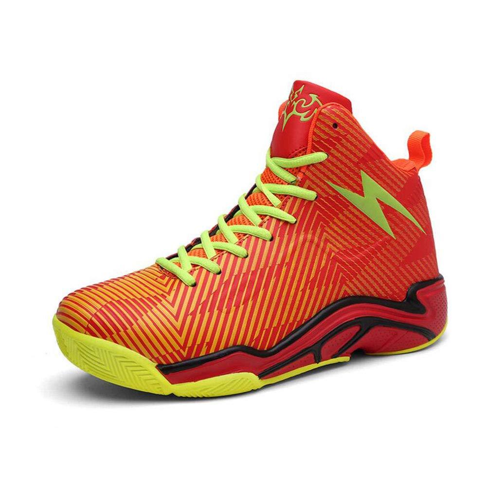 YAXUAN herren 2019 Männer Basketball-Schuhe Outdoor Turnschuhe Hochwertiger Korb Homme Lace-Up Ultra-Boost-Trainer (Farbe   C, Größe   43)