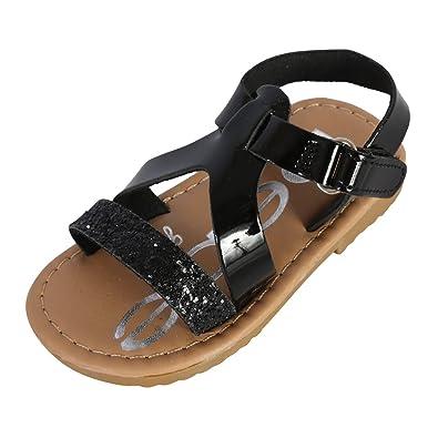 952de4c78d8cd3 bebe Girls Metallic Glitter Sandals