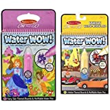 Melissa & Doug On The Go Water Wow! Fairy Tale and Coloring Book - Vehicles Bundle