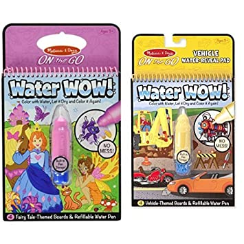 Amazon.com: Melissa & Doug On The Go Water Wow! Fairy Tale and ...