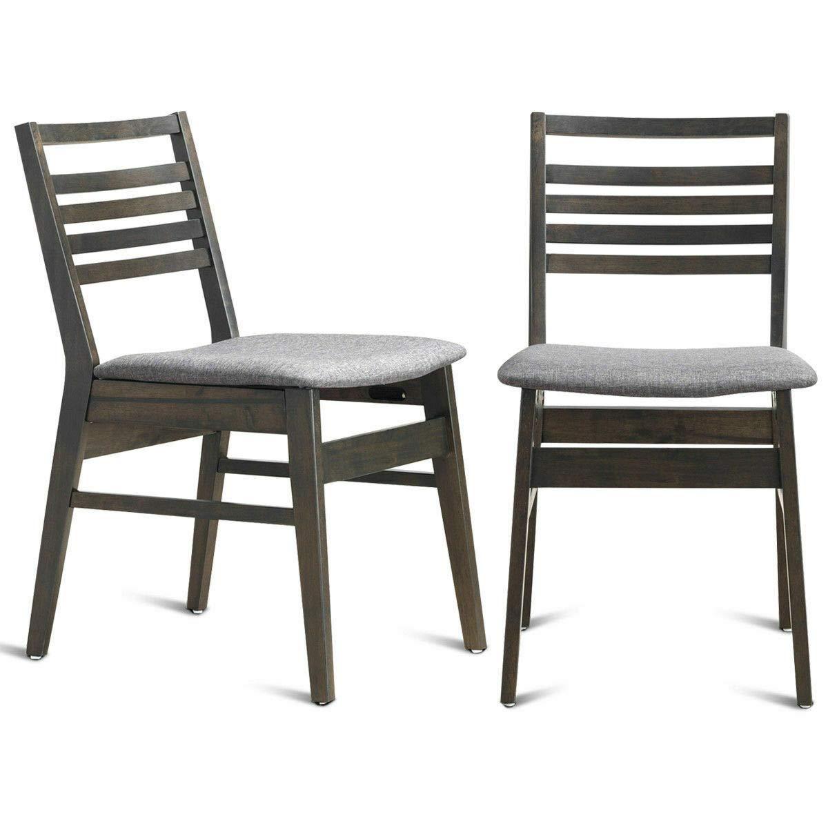 Amazon.com: Juego de 2 sillas de comedor modernas con marco ...
