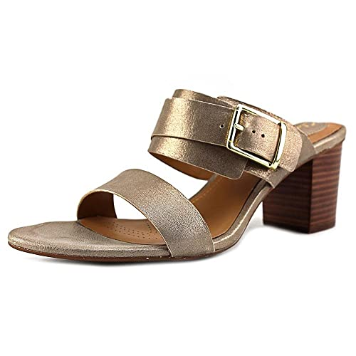 d035b61985b180 Clarks Womens Ralene Rose Champagne Metallic Leather Sandal 9 B (M)