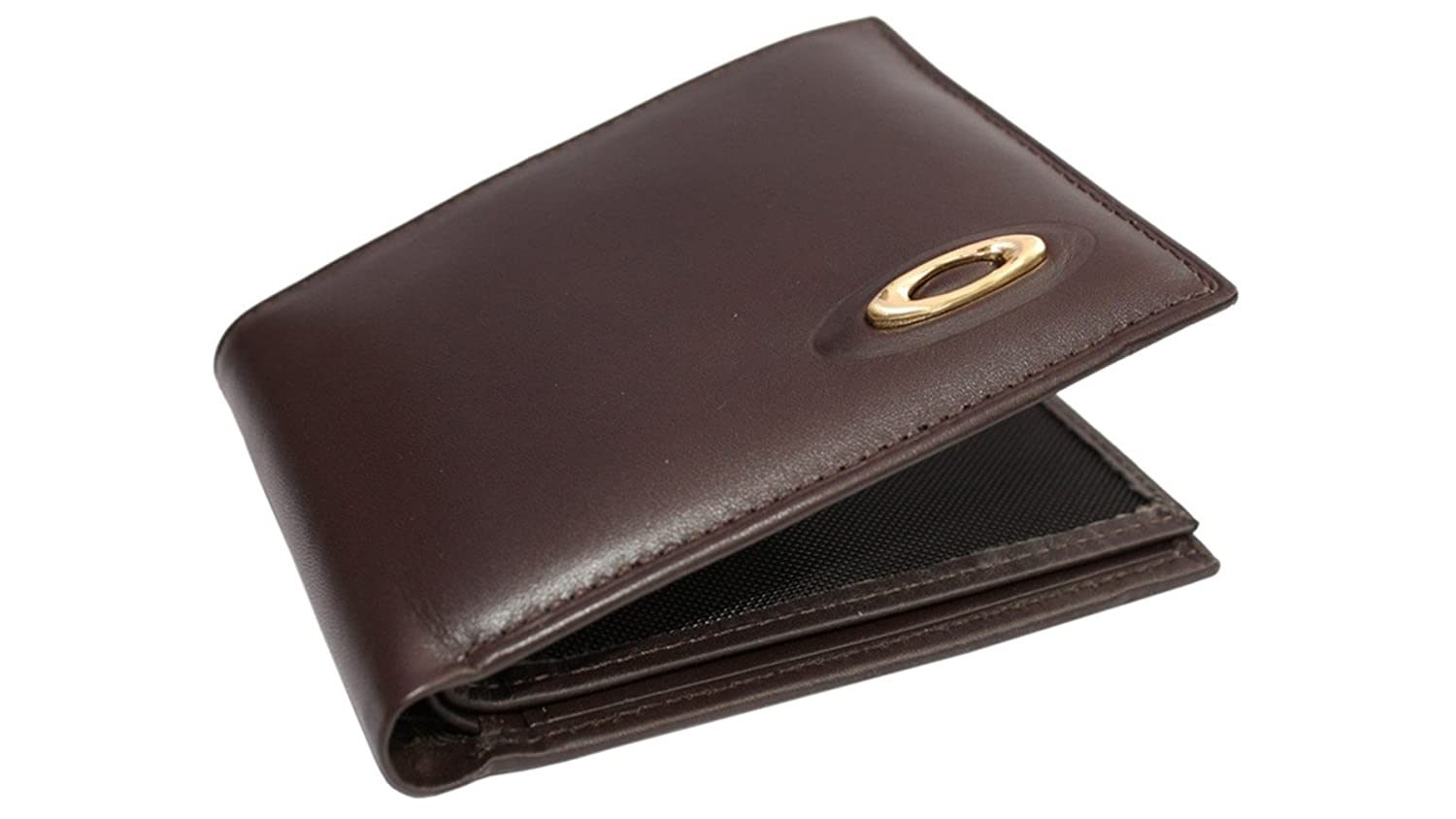 Oakley Men\'s Leather Bifold Wallet + Removable ID Credit Card Holder ...