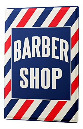 Tin Sign barbershop Metal Plate 8X12