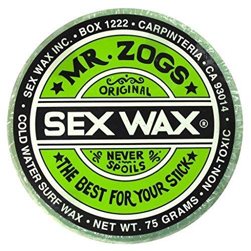 Mr. Zogs Original Sexwax - Cold Water Temperature Pineapple Scented (Aqua-Blue Color) (Sex Wax Sticker)