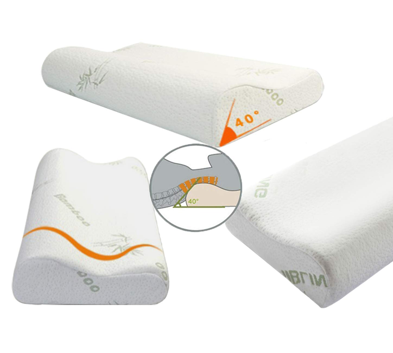 Almohada modelable de espuma con efecto espuma viscoelástica Eco Safeter, masaje cervical profundo, almohada para el cuello antironquidos, suave, lavable, ...