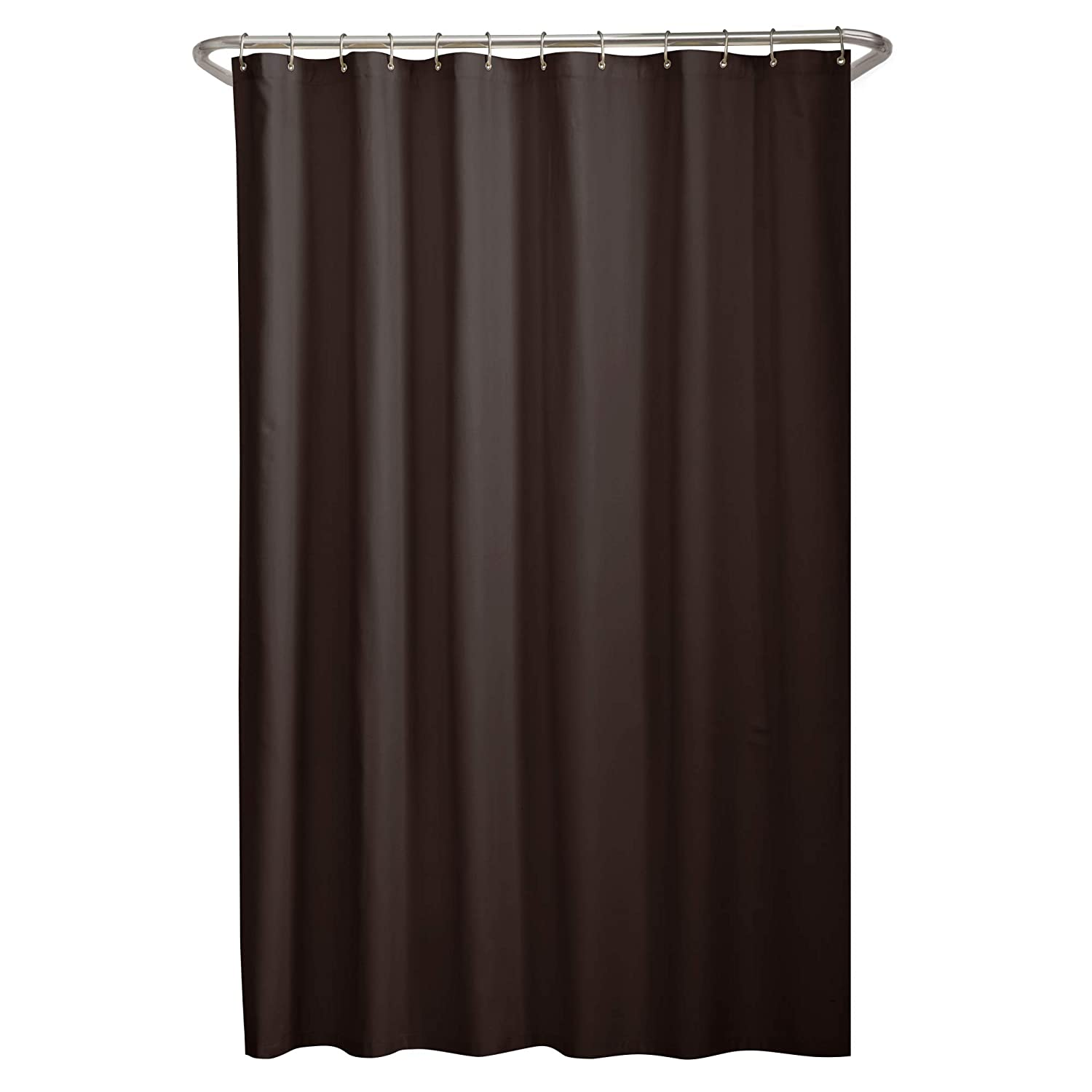 Amazon MAYTEX Soft Microfiber Water Repellent Fabric Shower Liner Or Curtain Chocolate Brown Kitchen Dining