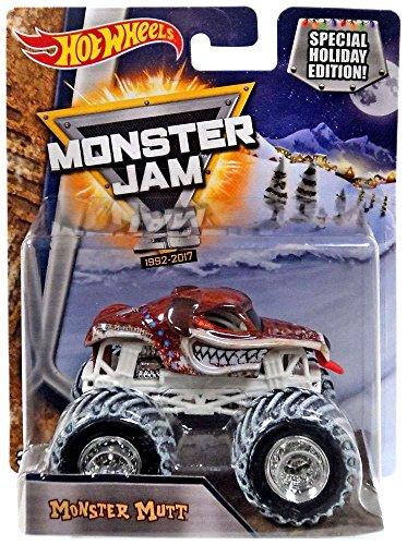 Hot Wheels Monster Jam Snow Tires 1:64 2017 Special Holiday Edition 25th Anniversary (Monster Mutt)