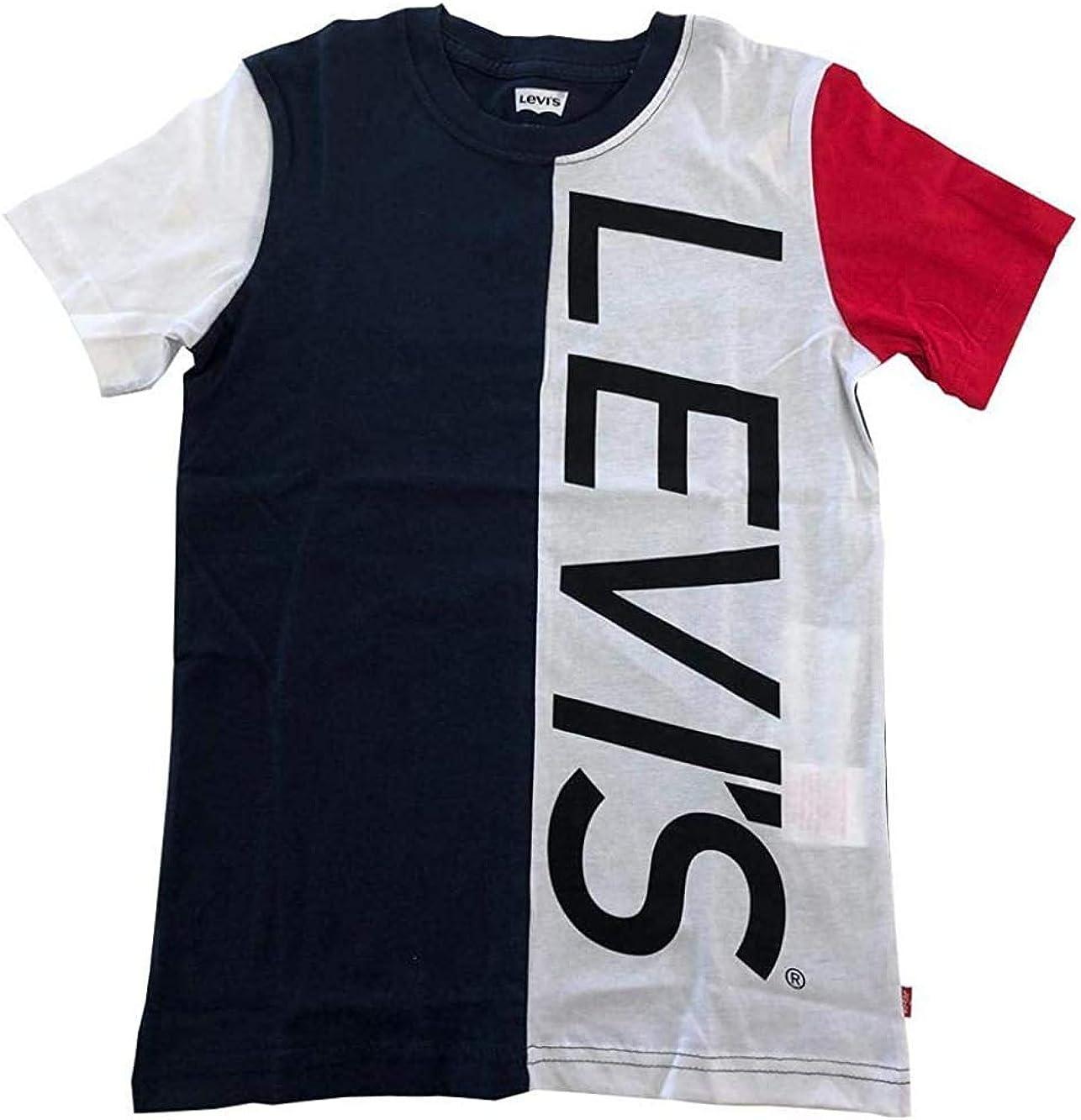 Levis LA Camiseta Blanca Azul del Chico 8EA995: Amazon.es: Ropa y accesorios