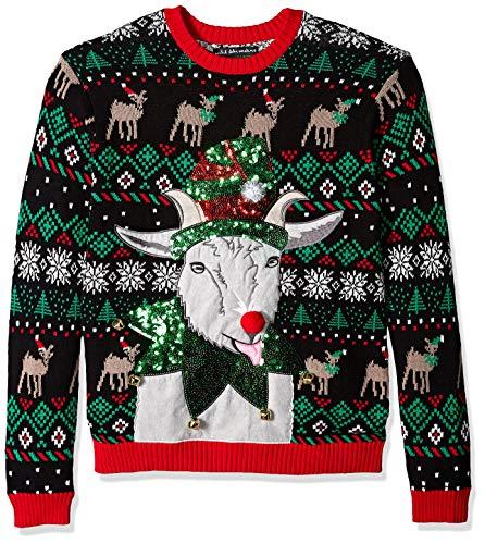 Ugly Goat - Blizzard Bay Men's Jingle Elf Goat Ugly Christmas Sweater, Medium