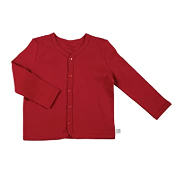 Red Fits 6-12 Months Stephan Baby Snap-Front Stroller Cardigan