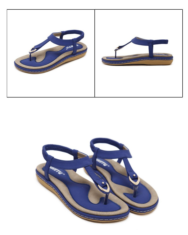 Maybest Ladies Style Flat Sandals- Women Summer Roman Sandals Comfy Shoes Blue US 7 by Maybest (Image #7)