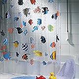 Fish Shower Curtain GUANYUAN 72