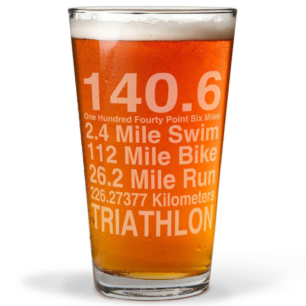 Math Miles Engraved Beer Pint Glass | Glassware by Gone For a Run | 20 oz. | Multiple Designs ChalkTalk SPORTS tr-11693-N